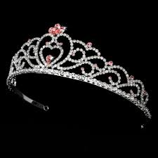 tiaras uk sparkling pink clear rhinestone tiara bridal wedding prom