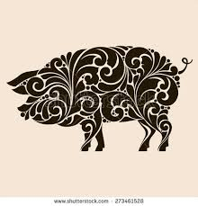 pig logo stock images royalty free images vectors