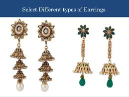 different types of earrings buy different varieties of indian wedding clothing and jewelry