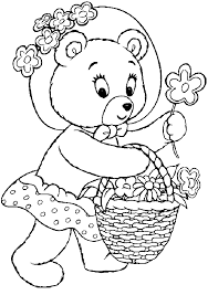 coloring tessie bear picture