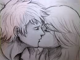 sketch of a couple kissing by prodigy5599 on deviantart