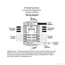 blue sea systems st blade fuse block 6 circuits with negative