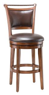 Wooden Swivel Bar Stool Calais Wood Swivel Barstool In Brown Vinyl Cherry 4298 830s