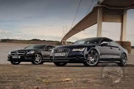 audi mercedes audi s7 vs mercedes cls550 in auto express comparison test
