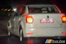 volkswagen ameo 2017 volkswagen ameo diesel spied in night doing almost 200 km hr