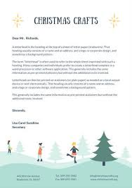 teal illustrated christmas letterhead templates by canva