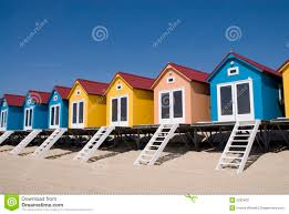 blue little beach houses stock photography image 2292402