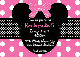 colors minnie mouse birthday invitations personalized templates