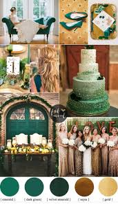 gold wedding theme emerald and gold wedding colour for vintage wedding theme