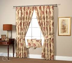 Laura Ashley Home by Cream U0026 Red Floral Heavy Curtains Taped Top Curtain Pair Laura