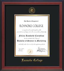 college diploma frame roanoke college diploma frames and custom rc graduation displays