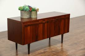 Credenza Tv Console Sold Rosewood Midcentury Danish Modern Vintage Credenza Cabinet
