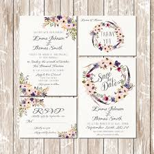 wedding invitation rsvp date boho wedding invitations kit pink and blue floral bohemian
