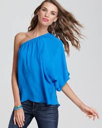 one shoulder blouse blouse one shoulder bloomingdale s