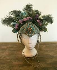 brazilian samba ostrich feather headpiece aztec feather headdress