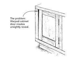 how to fix a warped cabinet door fixing warped doors fine homebuilding