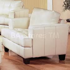White Leather Club Chairs Sofa Sets Samuel White Leather 3 Pcs Living Room Set Sofa