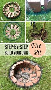 Home Made Firepit How To Build A Pit Submerged Diy Portable In Ground