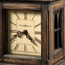Howard Miller Grandfather Clock Value Traditional Aged Dial Bracket Style Mantel Clock