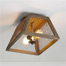 Hall Ceiling Lights by Chicken Wire Shade Ceiling Light Diy Hack Convert Hall Lights