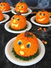 individual jack o lantern cakes