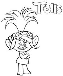 print branch poppy trolls coloring pages trolls
