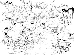 smurfs lost village colouring page get coloring pages