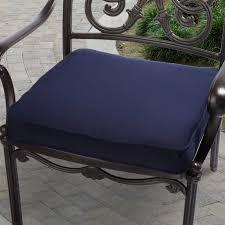 Navy Blue Patio Chair Cushions Mozaic Company Sunbrella Corded Indoor Outdoor Chair Cushion