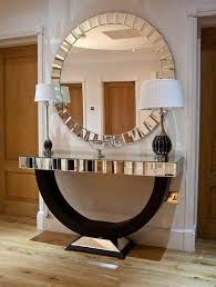 Entrance Tables And Mirrors Modern Console Table With Mirror Home Design Ideas And Pictures