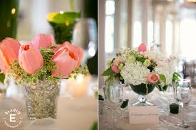 White Hydrangea Centerpiece by Pink Tulip And White Hydrangea Wedding Centerpiece Weddings