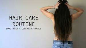 long hair care routine low maintenance youtube