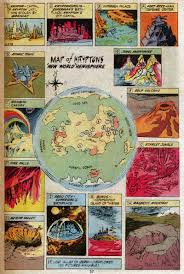 Eastern Hemisphere Map Fricking Awesome Maps From The Silver Age Of Comic Books Wired