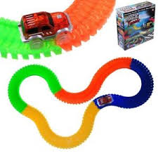 light up car track as seen on tv magic tracks diy 220 glow in the dark led light up race car track as