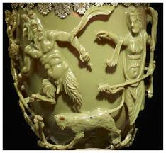 pan and dionysus depicted on the lycurgus cup the greek god pan