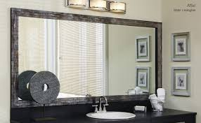 stick on frames for bathroom mirrors bathroom mirror frames 1 in decors