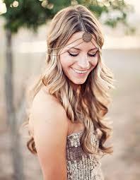 coiffure mariage boheme coiffure de mariée bijou de tête bohème les plus jolies