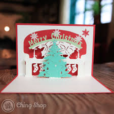 christmas tree with bell design 3d pop up card 3 95 3d pop up