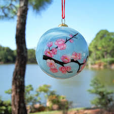 glass ornament cherry blossoms morikami museum and japanese