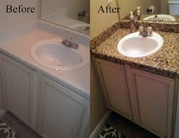 cheap bathroom countertop ideas bathroom diy low budget faux granite countertop for kitchen or