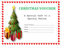 simple christmas holiday gift voucher certificate template with