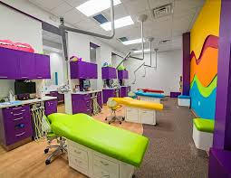 bright green deep purple orange pink blue and yellow walls