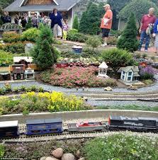 g scale garden railway layouts thousands flock to tour u0027train lady u0027s u0027 massive model train filled