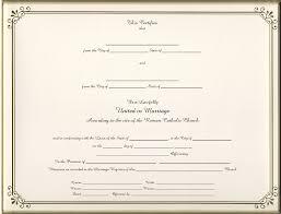 catholic marriage certificate keepsake catholic marriage 8 5 x 11 inch certificate gold border