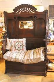 Organ Bench Reading Nook Or Hall Tree Bench In Dark Walnut Repurposed Antique