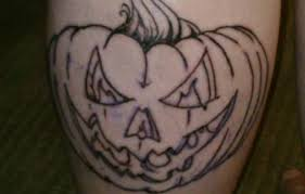 angry jack o lantern tattoo design by outline ink golfian com