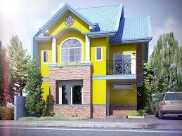 blue house exterior color schemes with white deck railing ideas