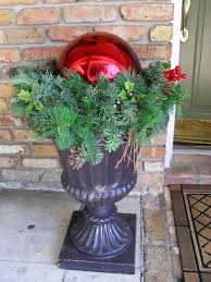 Christmas Decorations Outdoor Urns by Jack Stacks Adding A U201ccute Spook U201d To Your Garden Urns The