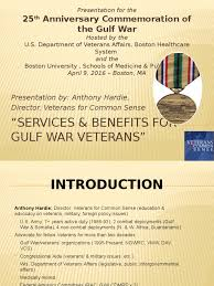 veterans compensation benefits rate tables effective 12 1 17 ppt services and benefits for gulf war veterans anthony hardie