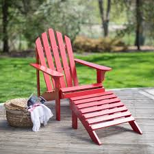 cape cod foldable adirondack chairs red set of 2 hayneedle