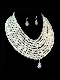 bridal necklace set pearl images Bridal jewelry pearl set desired dresses jpg